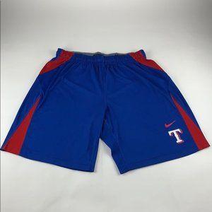 Texas Rangers MLB Nike Dri Fit Athletic Shorts